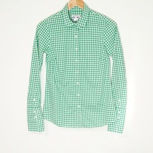Thomas Mason for J. Crew Green Gingham Buttondown